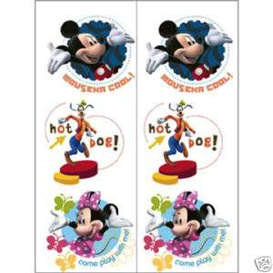 Disney MICKEY MINNIE MOUSE Temp TATTOOS Party Favors 726528224864