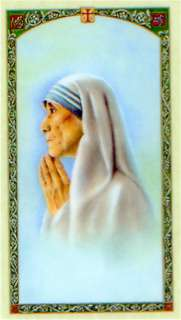 Mother Theresa Prayer Holy Card Example Love In Action