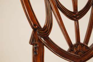 Mahogany Shield Back Dining Room Chairs~Sweetheart