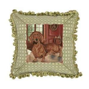 123 Creations C754.14x14 inch Dachshund Petit Point Pillow