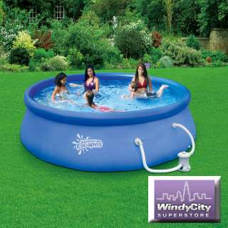 Summer Escapes 12 X 30 Quick Set Swimming Pool with 580 GPH Filter