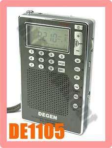 DEGEN DE1105 FM SW PLL ATS World Band Digital Radio