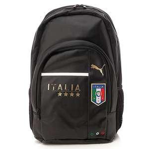 BN PUMA Italia Print Logo Backpack Book Bag in Black with Laptop
