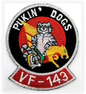 USN TOMCAT United States Navy PUKIN DOGS, VF 143 PATCH