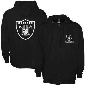Oakland Raiders Black Touchback Full Zip Hoody Sweatshirt