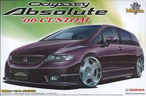 Aoshima 01998 Honda Odyssey Absolute 2006 Custom 1/24 scale kit