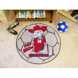 29 Round NCAA Ole Miss Rebels Chromo Jet Printed Soccer