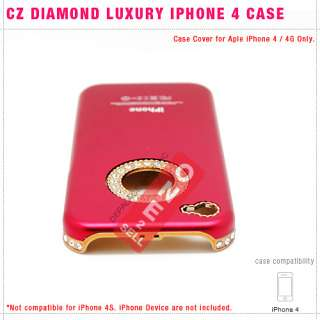 Rhinestone Crystal Diamond Bling Luxury Hard Case Cover for iPhone 4