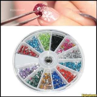2400 Nail Art Tips Rhinestones Glitters 2.0mm + Wheel