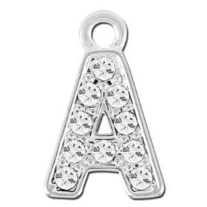com 11mm Rhinestone Alphabet Letter Charm   A Arts, Crafts & Sewing