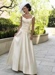 Taffeta Beads Vintage Beach Bridal wedding Dress Gown