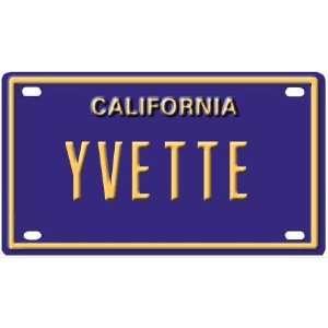 Yvette Mini Personalized California License Plate