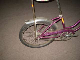Purple Ladies Girls Schwinn Stingray Bicycle Banana Seat My Fair Lady