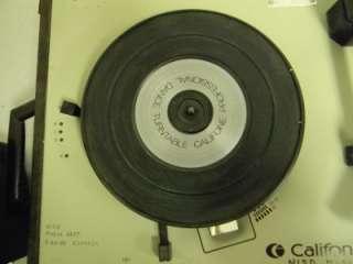 Original** Califone 1155K Record Player W/ Needle and BIG SPEAKERS