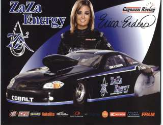 2011 ERICA ENDERS ZA ZA ENERGY CAGNAZZI RACING POSTCARD! 1ST VERSION