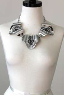 UNIQUE BOLD STATEMENT Necklace Earring SET  GOLD and SILVER