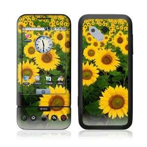 Sun Flowers Decorative Skin Cover Decal Sticker for HTC T