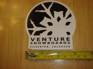 VENTURE Snowboards STICKER Decal NEW Black