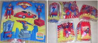 SUPERMAN 1997 BURGER KING KIDS CLUB MEAL SET OF 5 FIGURES LOIS LANE