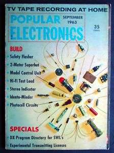 Popular Electronics Magazine   September 1963