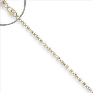 14k Yellow Gold, Valentino Gucci Mariner Link Chain Necklace 030 Gauge