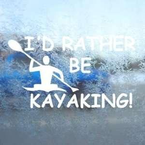 White Decal Kayak Paddle Car White Sticker Arts, Crafts & Sewing