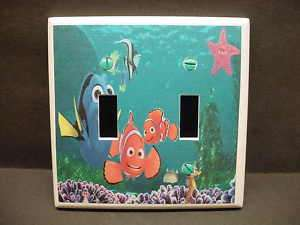 Finding Nemo #1 Light Switch Plate Cover Double V132