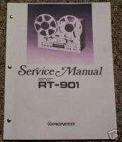 Pioneer RT 901 Reel to Reel Service Manual FREE SHIP