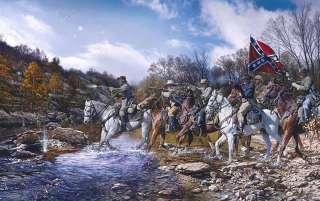 Charge Across the Harpeth John Paul Strain Civil War Artist Proof
