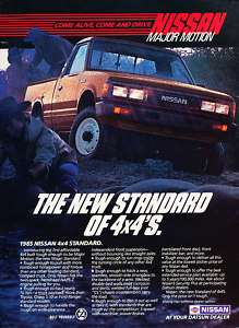 1985 Nissan 4x4 Truck Classic Advertisement Ad P67