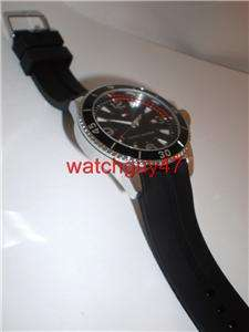 TOMMY HILFIGER by MOVADO Mens BLACK RUBBER STRAP DATE Watch 1790751