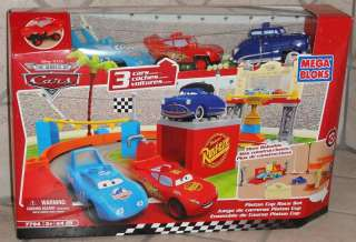 DISNEY CARS MEGA BLOKS PISTON CUP RACE SET 64 PIECES