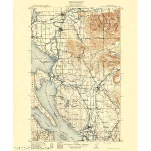 USGS TOPO MAP MOUNT VERNON QUAD WASHINGTON WA 1911 Home