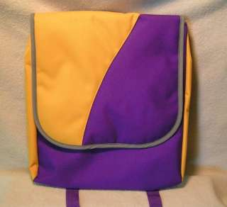 Purple and Gold Backpack Tote Book Bag   Fisher Price