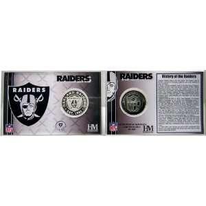 Oakland Raiders Team History Coin Card   Collectible Coin