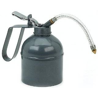 Metal Oil Can  Flex Spout   Thumb Pump   6.3oz Patio
