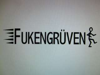 FUKENGRUVEN vinyl window decal sticker  vw