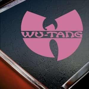 Wu Tang Clan Pink Decal Rap Rock Band Truck Window Pink