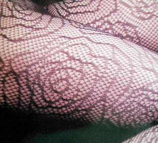 YELETE KILLER LEGS BLACK FLORAL WEB FISHNET TIGHTS