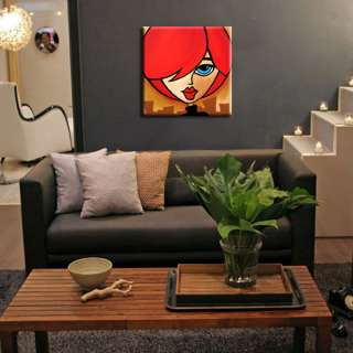 MODERN HUGE ABSTRACT PAINTING ORIGINAL FACES CONTEMPORARY Girl ART by