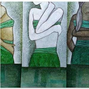 Figures Pose~Bali Unique Paintings~Acrylic On Canvas