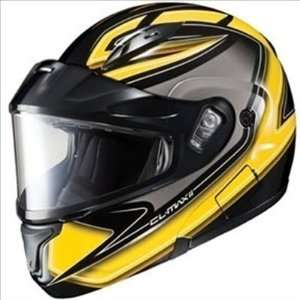 HJC Cl Max II Zader Snowmobile Dual Lens Shield Helmet Black Yellow