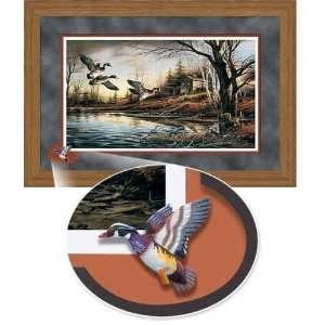 Terry Redlin   Backwoods Cabin Cameo Oak Framed Elite Edition: