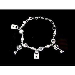 Lock and Key Charm Bracelet Case Pack 3