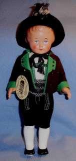 Vintage AUSTRIA BOY DOLL in original clothing & tag