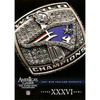 Warner Brothers New England Patriots Super Bowl XXXVI Americas Game