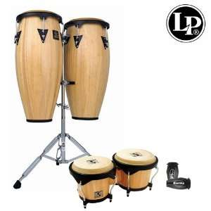 Latin Percussion LP Aspire 10 & 11 Wood Conga Set With Bongos