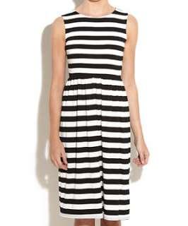 Black Pattern (Black) Striped Midi T Shirt Dress  244671109  New