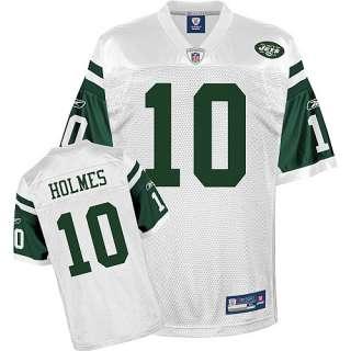 Reebok New York Jets Santonio Holmes Replica White Jersey