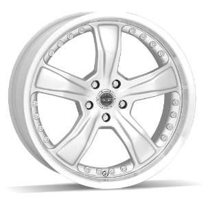American Racing Razor 18x9 Silver Wheel / Rim 5x4.5 with a 24mm Offset